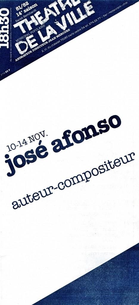 01 BIBLE TDV 1981 concert José Afonso au Théâtre de la Ville en 1981 AFONSO 2
