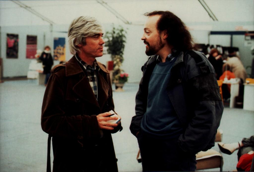 Jacques Erwan en compagnie d'Alan Stivell (à droite). (Droits réservés)
