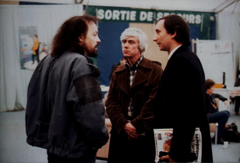 Alan Stivell, Jacques Erwan et Julio Isidro, célèbre animateur de la télévision portugaise… (Droits réservés)