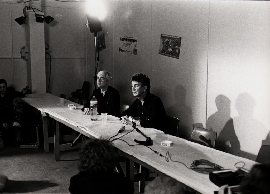 Conférence de presse avec Jacques Higelin. (Photo Jean-Luc Bouchart)