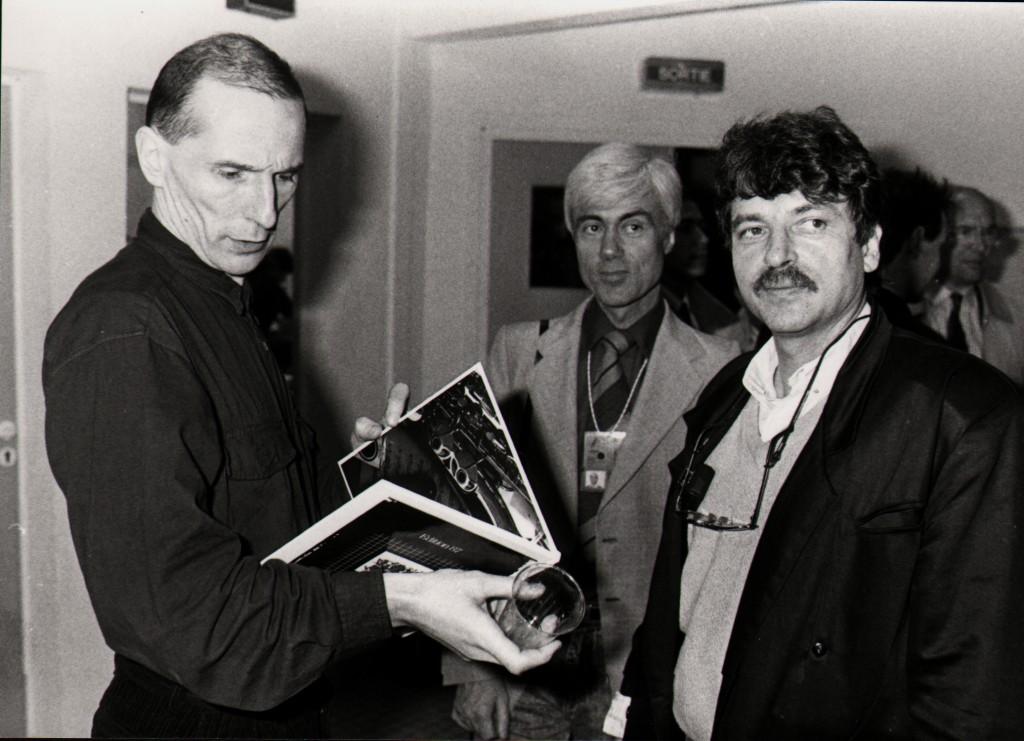 L'artiste russe Piotr Mamonov, fondateur du groupe Zvouki Mou, Jacques Erwan, Daniel Colling. (Droits réservés)