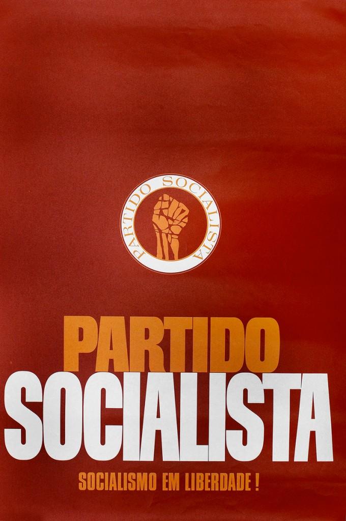 """Affiche du Parti Socialiste. """"Socialisme en liberté !"""""""