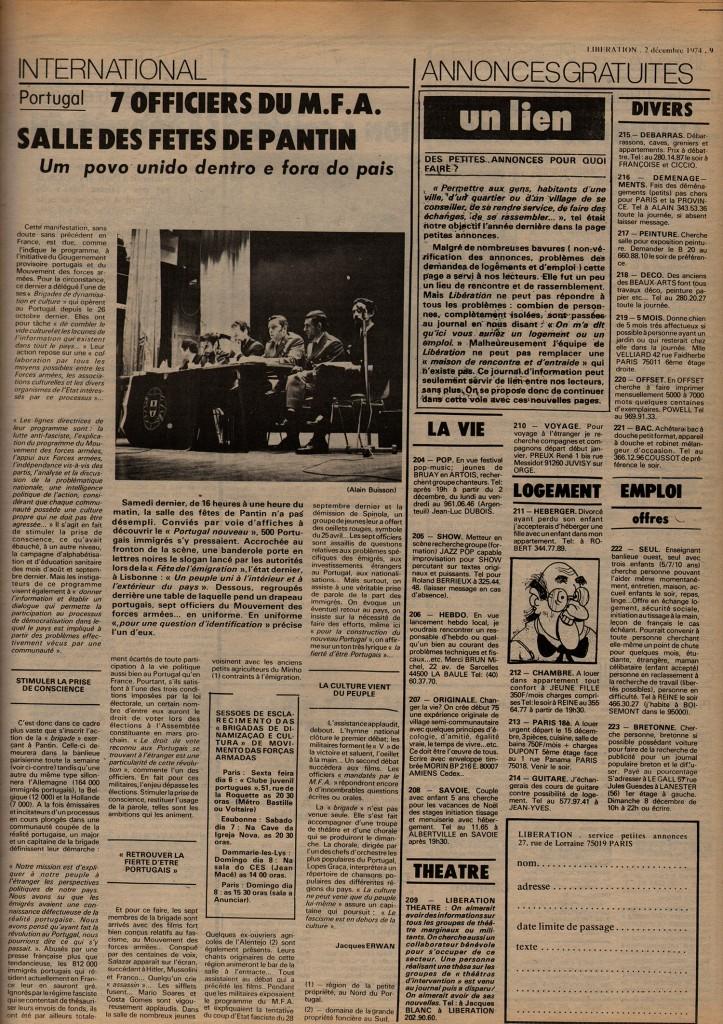 Article dans Libération