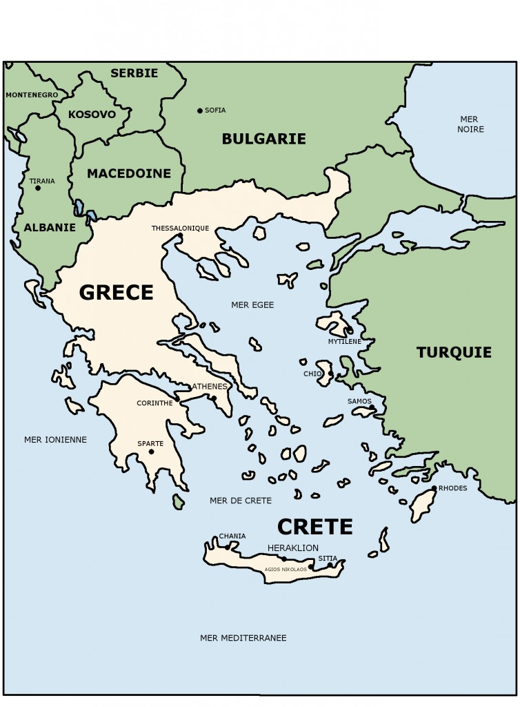 CARTE GRECE CRETE
