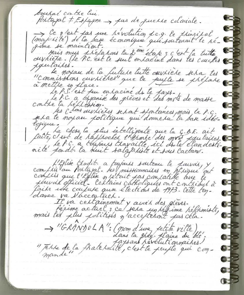 Cahier de J.E. : interview de José Afonso
