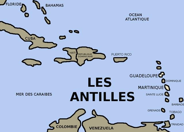 Carte-des-Antilles