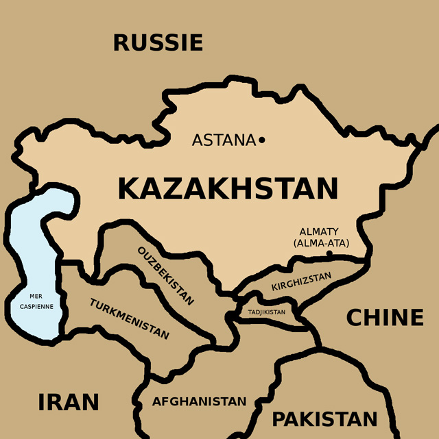 Carte-du-Kazakhstan