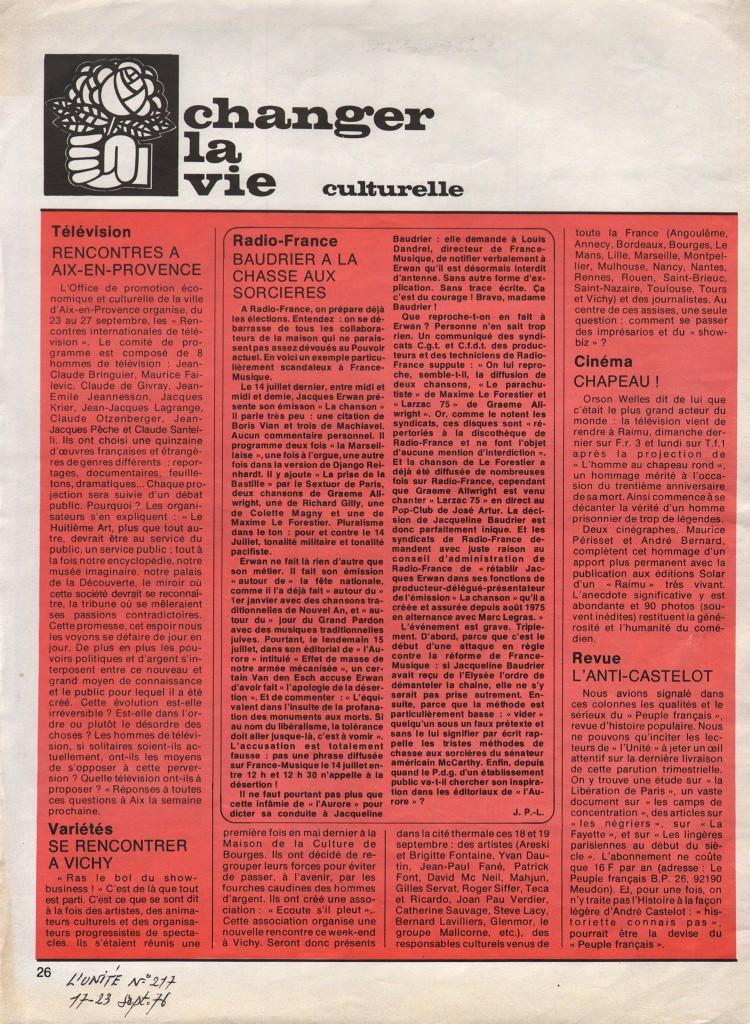 L'Unité n°217 / 17-23 septembre 1976