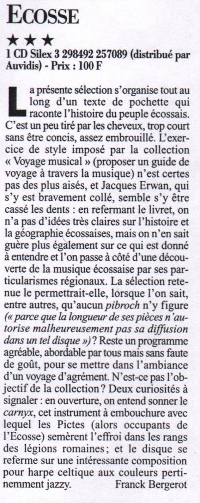 Le Monde de la Musique, février 1996