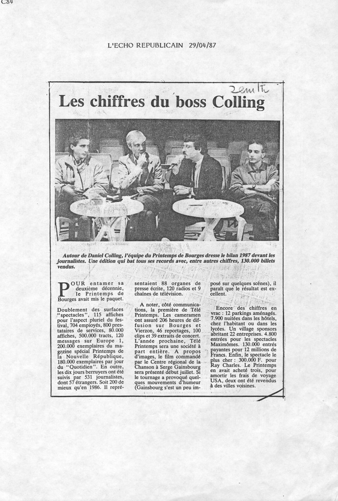 L'Echo républicain - 29 avril 1987