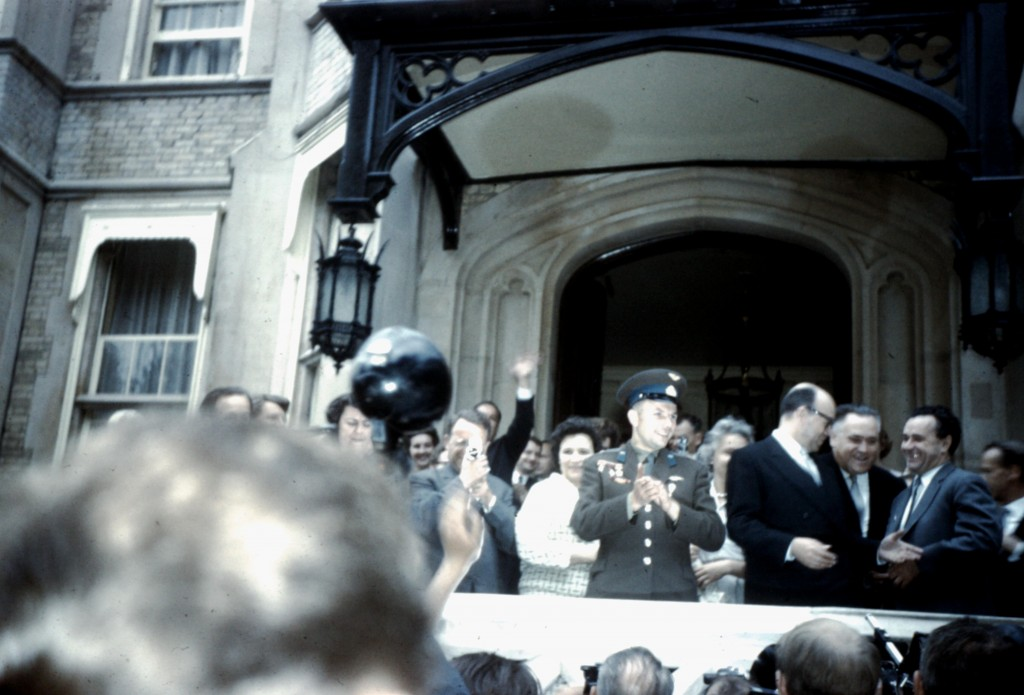 Youry Gagarine à Londres, 11 juillet 1961.