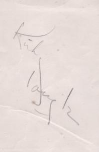 Autographe de Kirk Douglas
