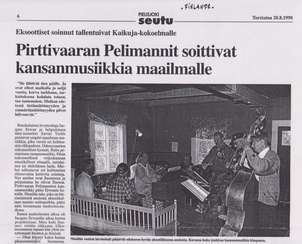 Torstaina (journal finlandais), 20 août 1998