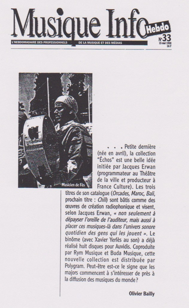 Musiques Infos, 15 mai 1998