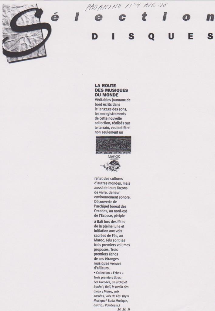 Paganino, avril 1998