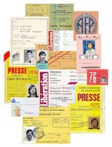 Cartes de presse, pèle-mêle © Tangi Thierry